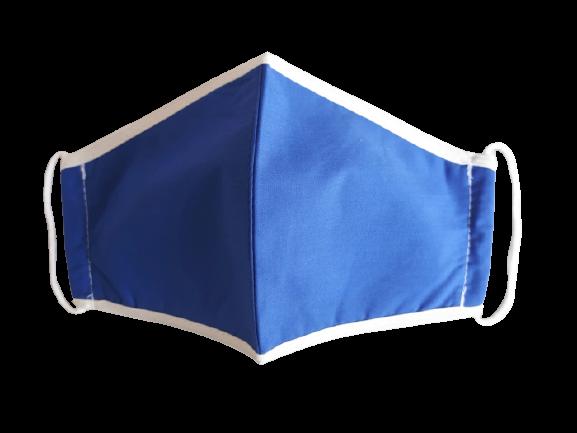 Masca textila pentru copii, 9-12 ani, albastra [0]