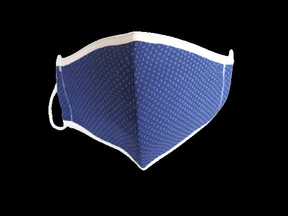 Masca textila pentru copii, 9-12 ani, albastra cu imprimeu puncte albe 0