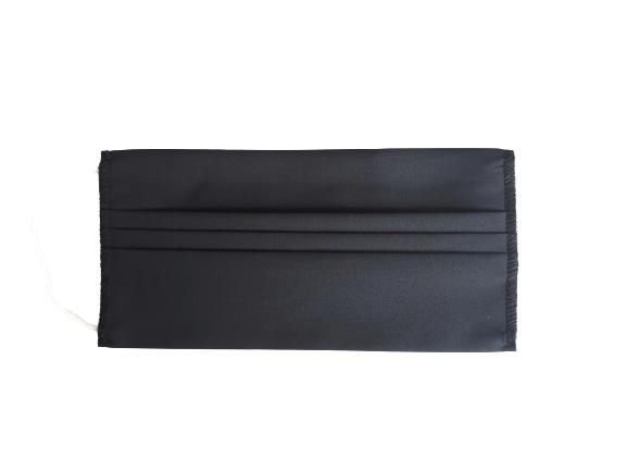 Masca textila reutilizabila, din 3 straturi, cu 3 pliuri, neagra 2