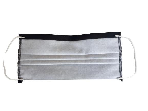 Masca textila reutilizabila, din 3 straturi, cu 3 pliuri, neagra 3