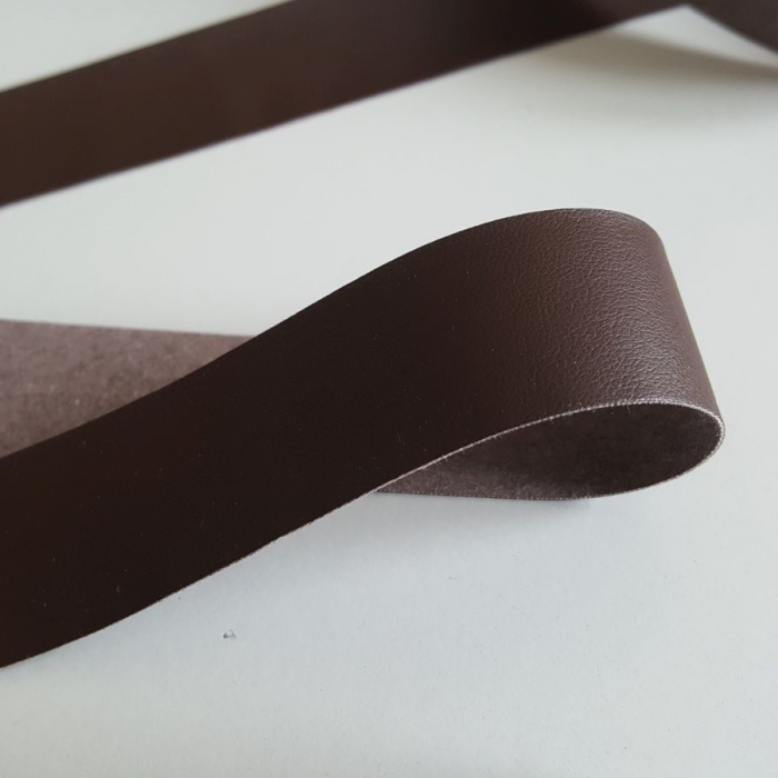 Banda din piele ecologica maron, 2,5cm latime [1]
