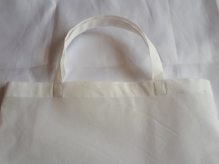 Sacosa din material netesut alb, 37 x 40 cm 1