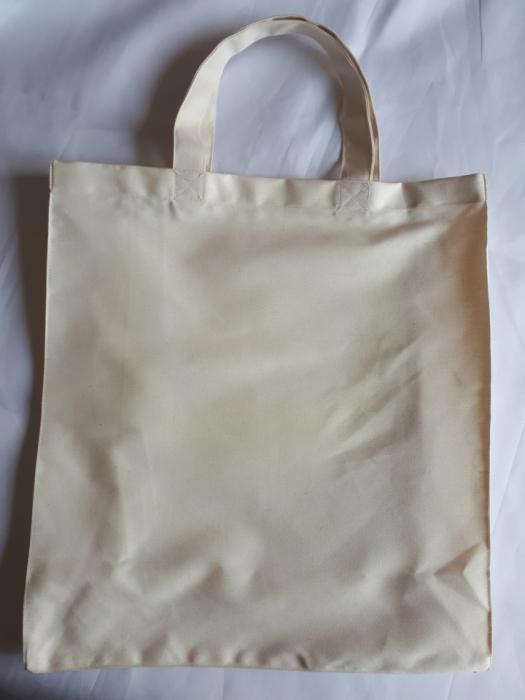 Sacosa cu burduf, maner scurt, 38 x 37 cm 0