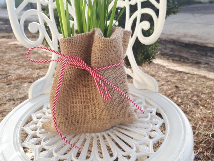 Saculet de iuta pentru ghivece de flori [1]