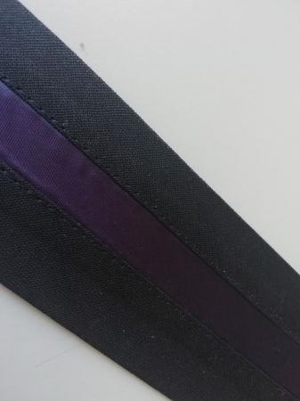 Betelie de pantaloni cu insert banda mov1