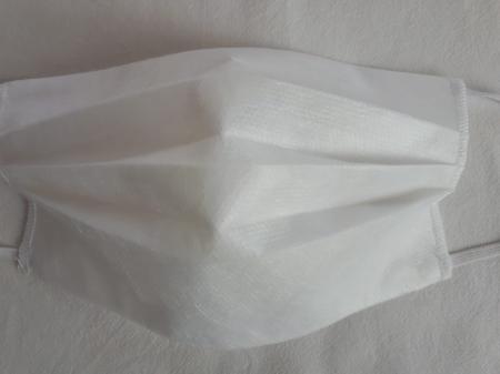 Masca textila de unica folosinta, din 3 straturi de material netesut, cu 3 pliuri [2]