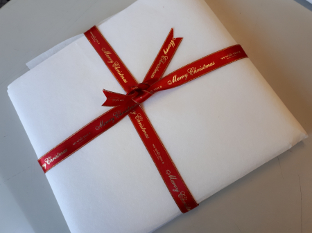 "Banda satinata ""Merry Christmas"" rosu [2]"