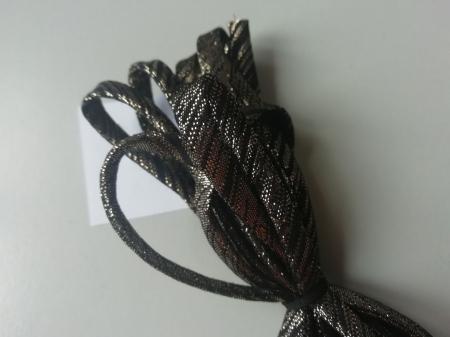 Banda tip spaghetti negru cu auriu1