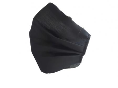 Masca textila reutilizabila, din 3 straturi, cu 3 pliuri, neagra1