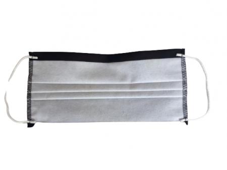 Masca textila reutilizabila, din 3 straturi, cu 3 pliuri, neagra3