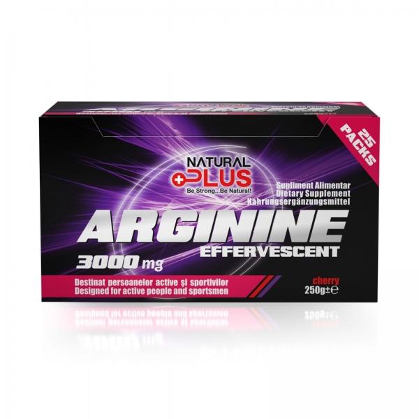 Recipient ARGININE EFFERVESCENT 25 plicuri de la Natural Plus 0