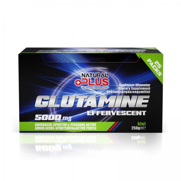 Recipient GLUTAMINE EFERVESCENT 25 plicuri de la Natural Plus 0