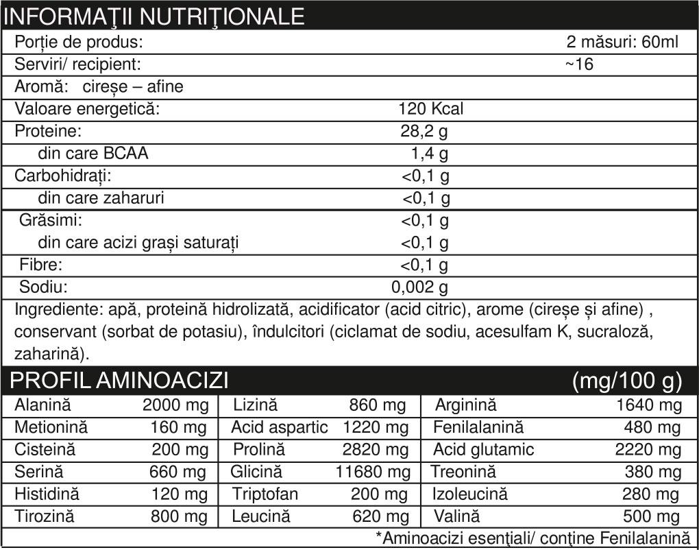 Specificatii AMINO LIQUID 1 L