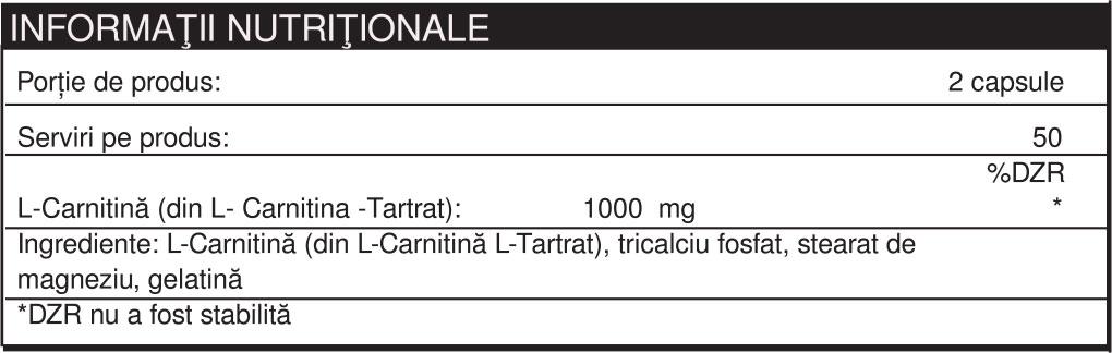 Specificatii L-CARNITINE