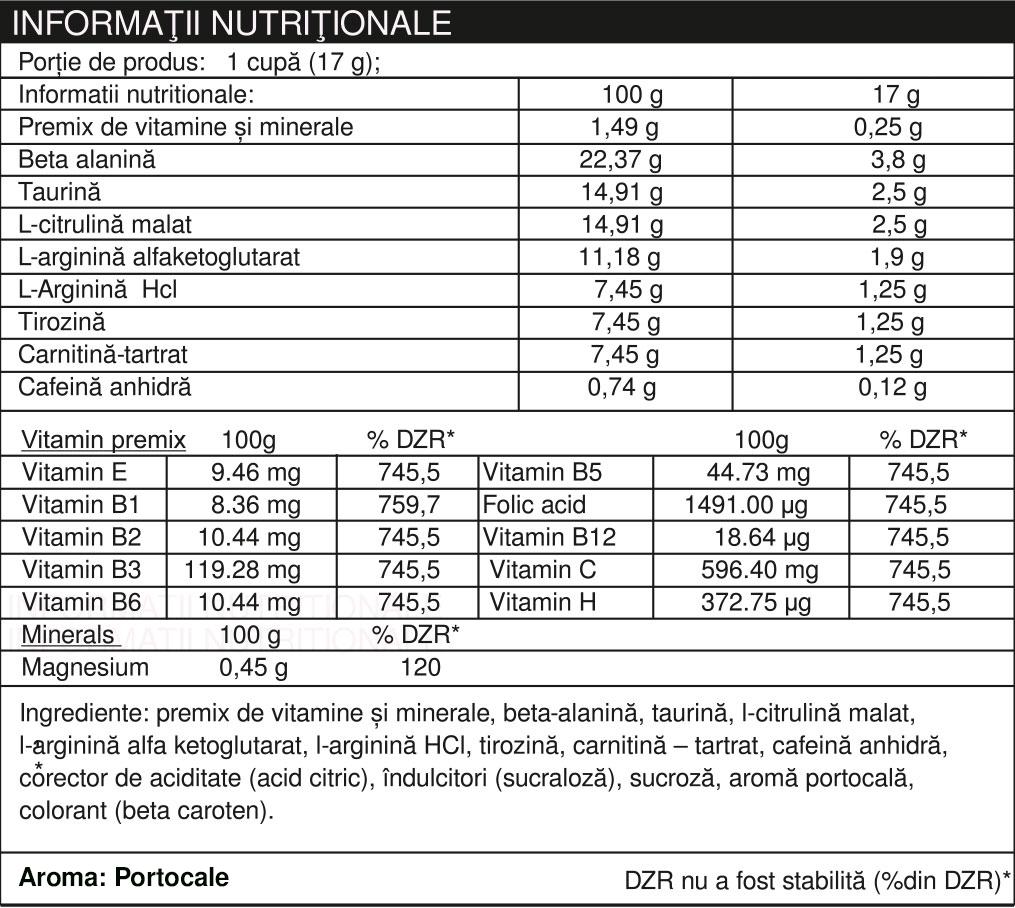 Specificatii SUPRA+ CHARGE HD PLICURI