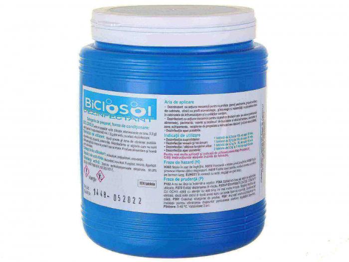 Biclosol tablete dezinfectante cutie cu 300 bucati   Totalmed Aparatura Medicala [0]