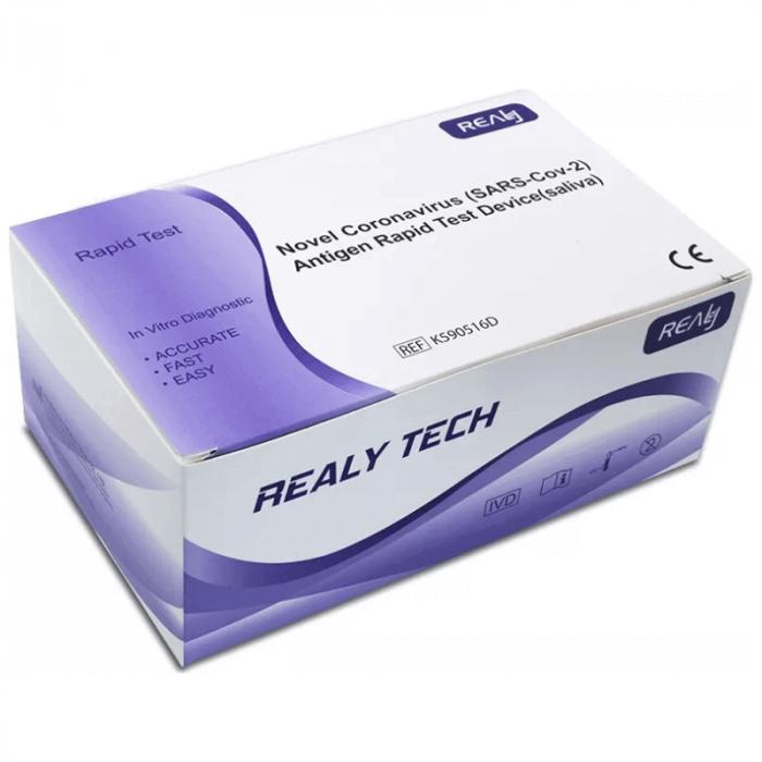 Set 5 bucati Teste rapide saliva antigen COVID-19, Realy Tech, pentru uz profesional [0]