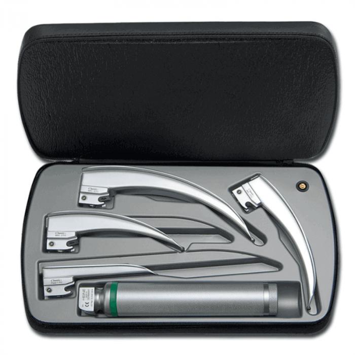Set laringoscop clasic cu fibra optica si 4 lame | Totalmed Aparatura Medicala [0]