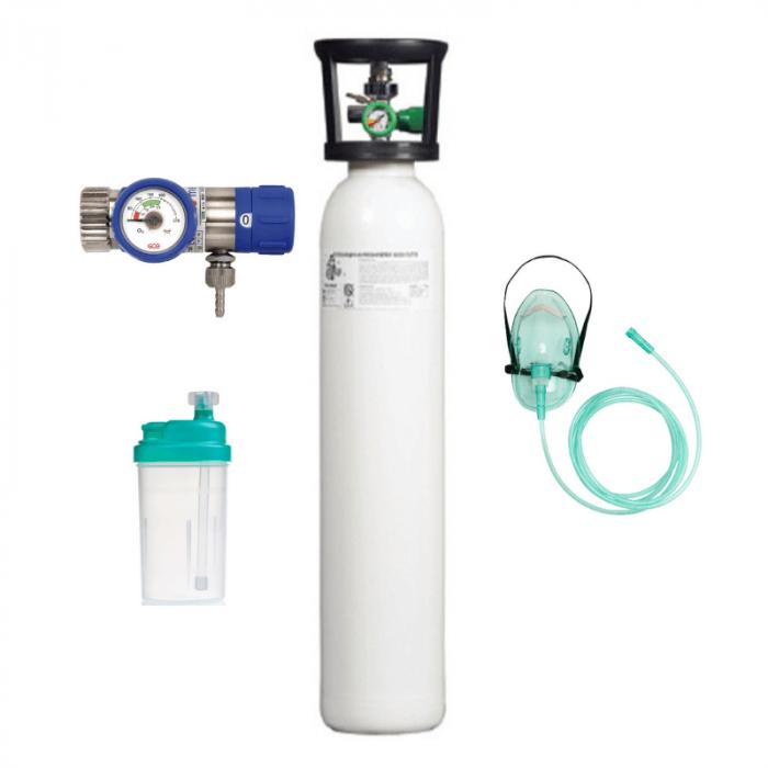 Set Oxigenoterapie cu butelie oxigen medical 2 litri | Totalmed Aparatura Medicala [0]