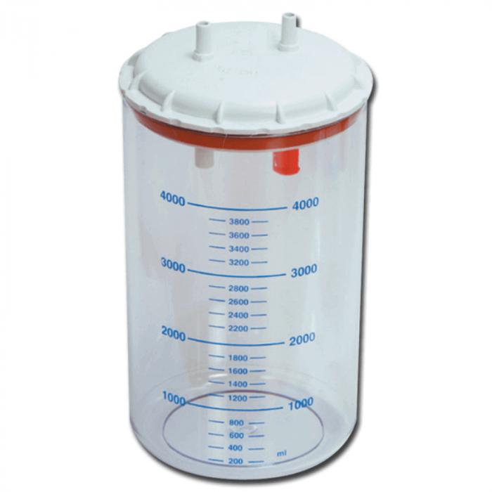 Vas colector autoclavabil 4000 ml, cu capac | Totalmed Aparatura Medicala [0]