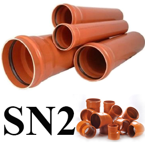 Teava PVC canalizare exterioara trafic usor (SN2)