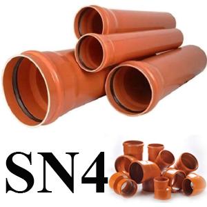 Teava PVC canalizare exterioara trafic greu (SN4)