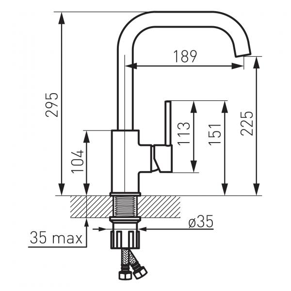 Baterie stativa bucatarie FREYA FERRO 1
