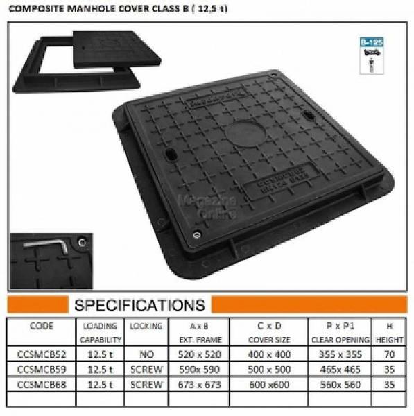 CAPAC COMPOZIT PATRAT 59X59 B125 [0]