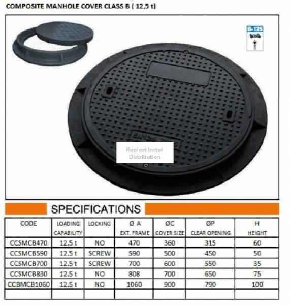 CAPAC COMPOZIT ROTUND 1060 D125 0