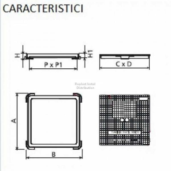 CAPAC PATRAT 420x420, 12.5t 1