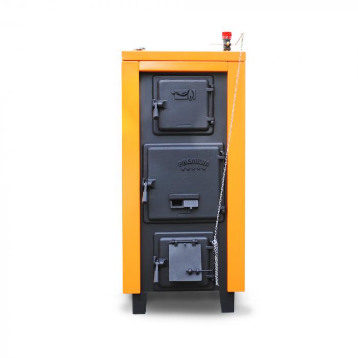 Cazan din otel pe combustibil solid Magdolna Premium 37 kw 1