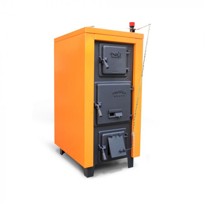 Cazan din otel pe combustibil solid Magdolna Premium 37 kw 0