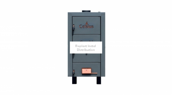 CAZAN DIN OTEL PE COMBUSTIBIL SOLID  CELSIUS COMBI 50-56 KW 0