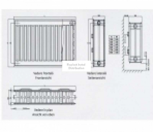 Radiator/Calorifer otel Copa Konveks 22/600/1100 [2]
