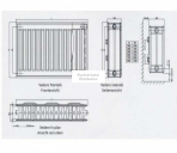 Radiator/Calorifer otel Copa Konveks 22/600/1400 [2]