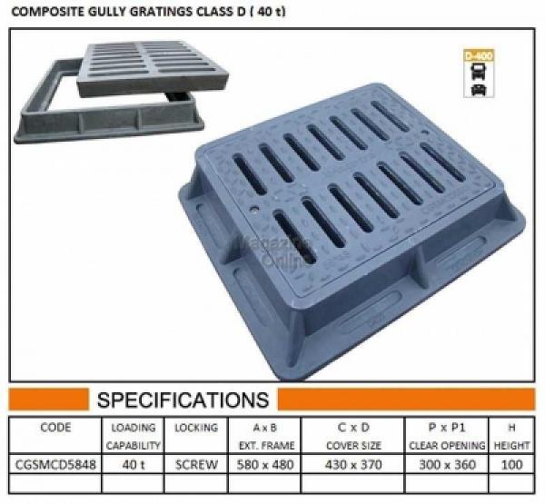 GRATAR COMPOZIT 58X48 (SISTEM INCHIDERE) D40 0