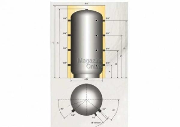 Austria Email Puffer - acumulator de apa calda, 800 litri, fara serpentina, Austria Email PSM 800 [1]
