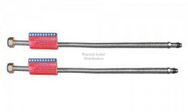 "Racord flexibil monocomanda din inox  1/2"" 50cm 2buc./set niplu lung+niplu scurt 0"
