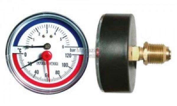 Thermomanometru 6 Bar, orizontal [0]