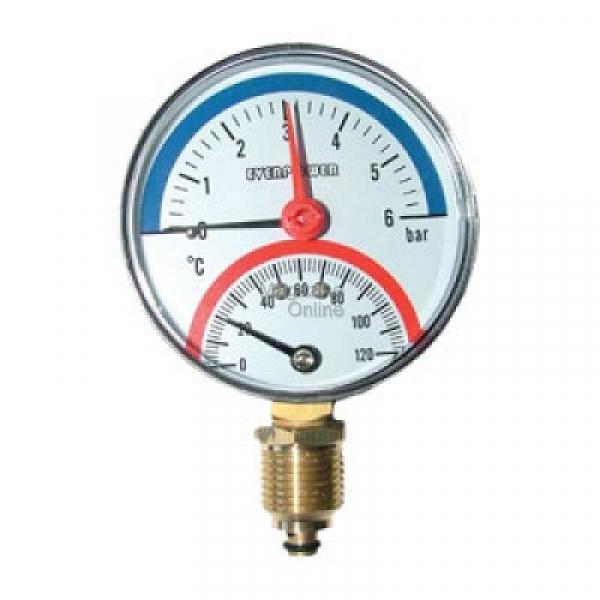Thermomanometru 6 Bar,vertical [0]