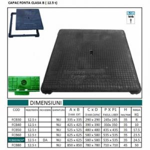 CAPAC PATRAT 420x420, 12.5t0