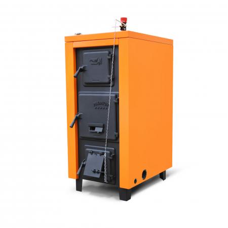 Cazan din otel pe combustibil solid Magdolna Premium 27 kw2