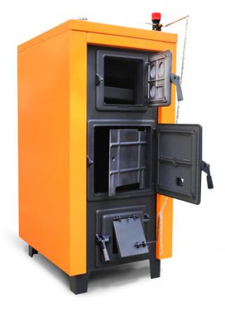 Cazan din otel pe combustibil solid Magdolna Premium 27 kw3