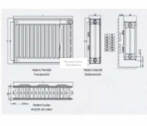 Radiator/Calorifer otel Copa Konveks 22/600/1000 [2]