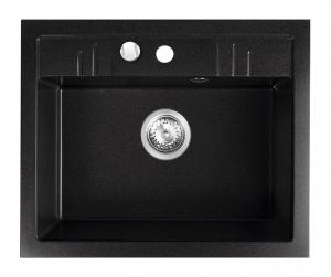 Chiuveta bucatarie simpla Granit Ferro Mezzo II Grafit 1 Cuva 580 x 480 mm0