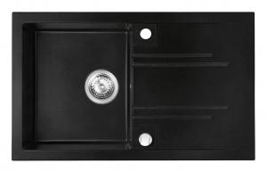 Chiuveta bucatarie simpla Ferro Mezzo II Grafit 1 Cuva si Picurator 780 x 480 mm0