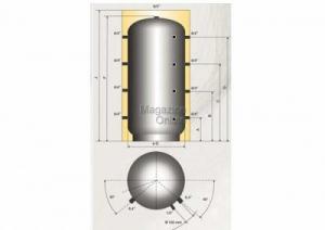 Austria Email Puffer - acumulator de apa calda, 1000 litri, fara serpentina, Austria Email PSM 1000 [1]