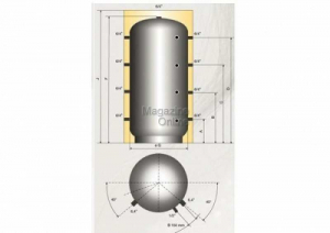 Austria Email Puffer - acumulator de apa calda, 5000 litri, fara serpentina, Austria Email PSM 5000 [1]