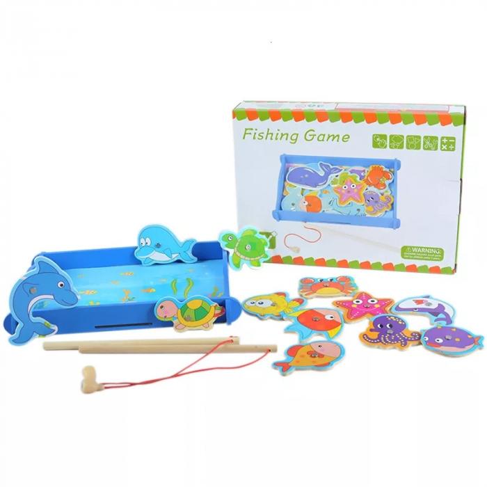 Joc educativ din lemn Pescuit Magnetic, Toyska [1]