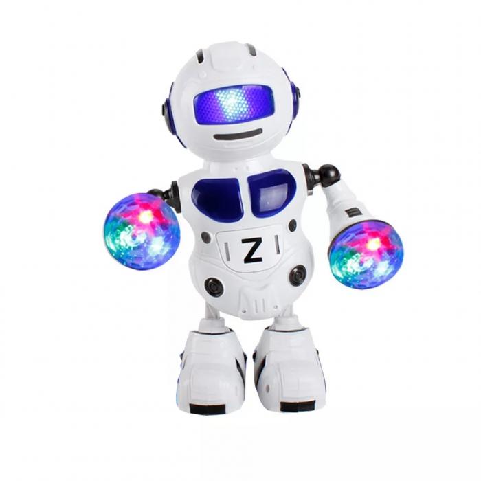 Robot dansator cu sunete si lumini, Albastru, Toyska [0]